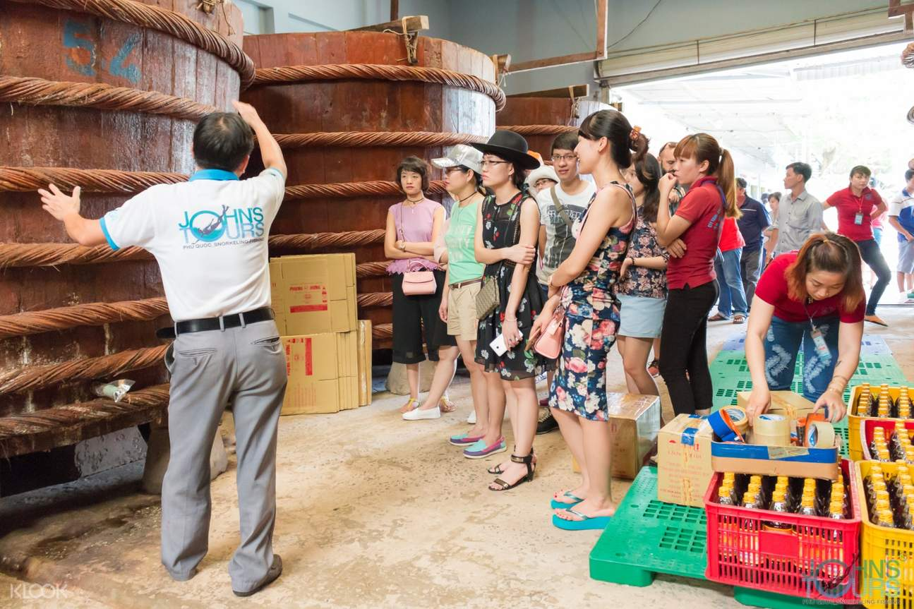 Visit a fish sauce factory that resembles a brewery